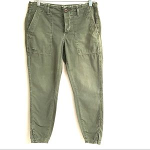 AMO Anthro army twist utility ankle pants 26